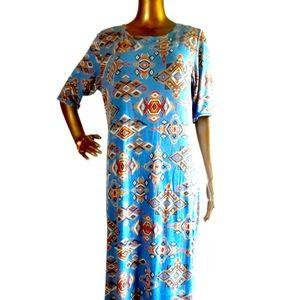 LuLaRoe XL Half Sleeve Boho Hippie Aztec Dress